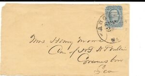 CONFEDERATE 10c DAVIS ON COVER FRONT AUGUSTA - GREENSBRO.