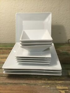 11-Pcs-The-Cellar-Whiteware-Square-Collection-Plates-amp-Bowls