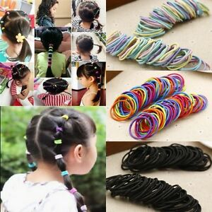 100pcs-Elastic-Rope-Women-Girl-Kid-Hair-Ties-Ponytail-Holder-Head-Band-Hairbands