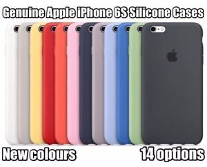 14 Colors 100 Real Original Apple Silicone Case Iphone 6s 4 7 Ebay