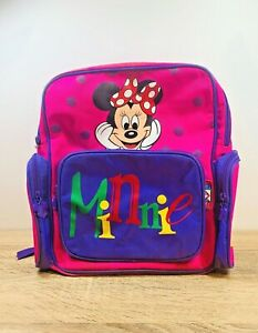Vintage Minnie Mouse Pink Purple Children's Backpack  Mickey's Stuff