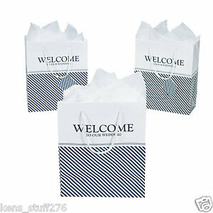 Image Is Loading Nautical Welcome To Our Wedding Gift Bags 7
