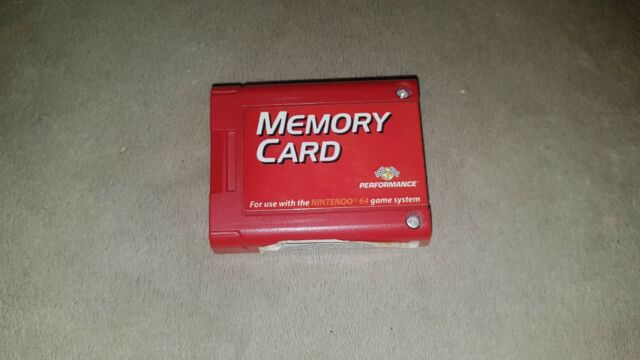 Red Nintendo 64 Memory Card by Performance