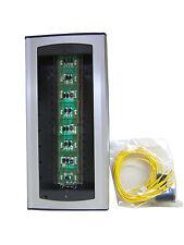 Estación de Puerta de audio adicional 8 módulos de Botón Pulsador Panel Farfisa AG100T