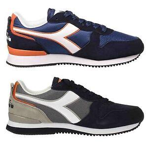 DIADORA-OLYMPIA-scarpe-sportive-uomo-casual-sneakers-pelle-camoscio-tessuto-blu