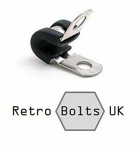 Classic Mini Austin Screws  QTY 10 Plastic P Clips Cooper S 3//16 5mm