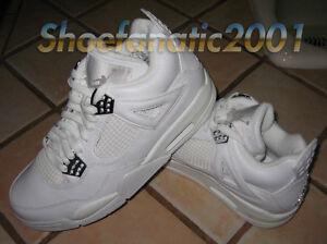 size 40 0598c 0972e Details about Nike Air Jordan Retro 4 IV White Metallic Silver Cement 7.5  Bling SB Supreme