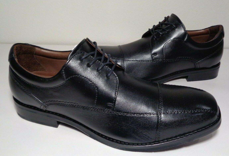 Johnston & Murphy Size 9.5 M BARTLETT Black Leather Oxfords New Men's Shoes