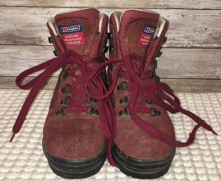 Berghaus Outdoor Performance Footwear Womens 37 Red Gore-Tex Boots Size 37 Womens 24d888