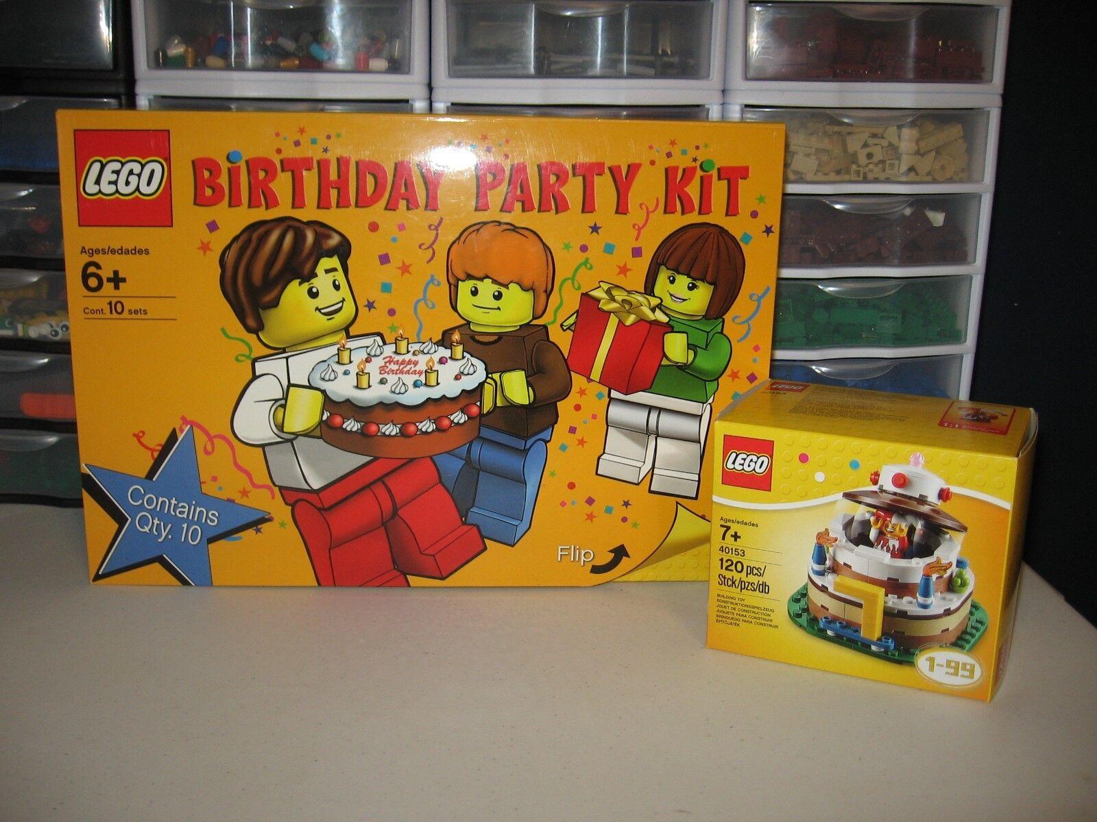 LEGO LEGO LEGO BIRTHDAY PARTY KIT FOR 10 AND LEGO BIRTHDAY TABLE TOP CAKE NIB 813f58