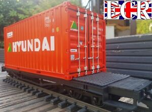 X-LONG-FLATBED-amp-G-SCALE-SHIPPING-CONTAINER-45mm-GAUGE-CARGO-FREIGHT-CONTAINERS
