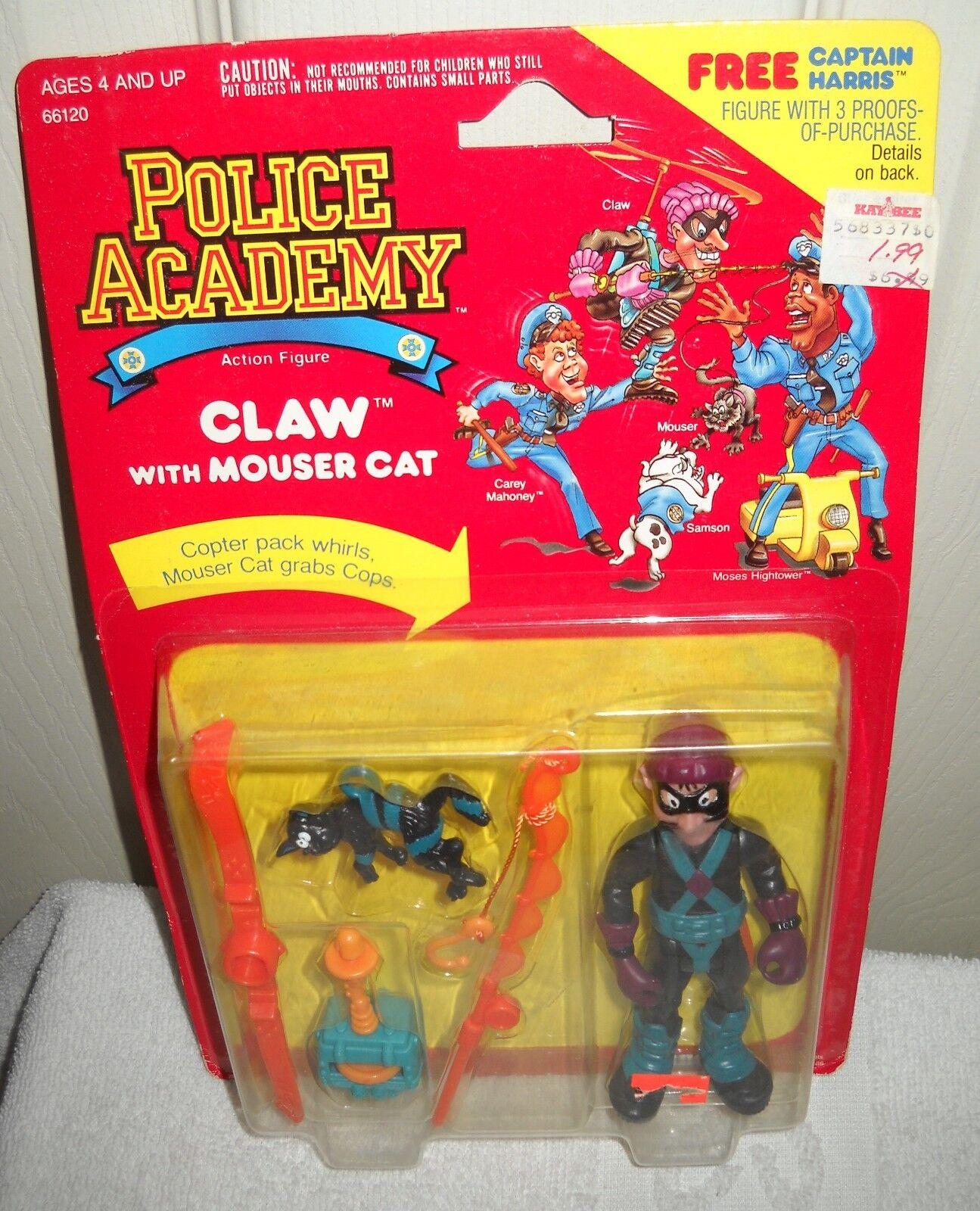 10026 nrfc vintage - kenner der polizeischule klaue figur mit mouser katze