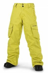 2016-NWT-BOYS-VOLCOM-FOLSOM-INSULATED-SNOWBOARD-PANT-M-citronelle-green