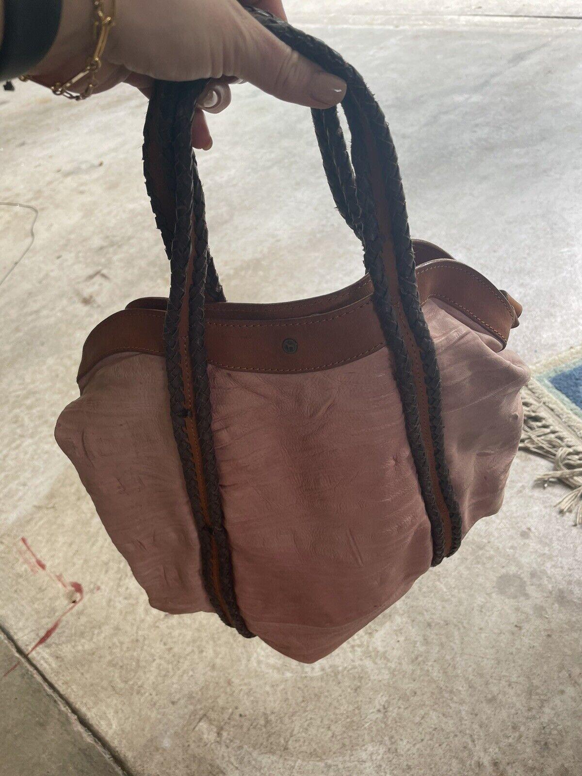 holding horses Leather Dusty Pink bag - image 7