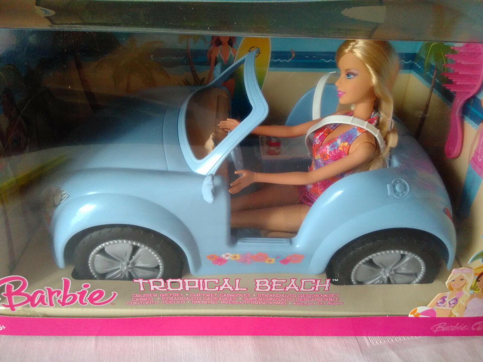 MATTEL Barbie  Tropical Beach  im VW VW VW Beetle Cabrio  Geschenkset  RAR  NEU OVP 4e6b9e