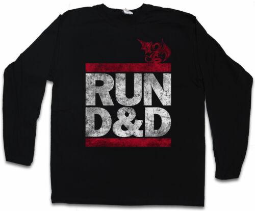 Run d/&d Hommes T-shirt à manches longues Fun Run DMC Donjons /& stylo et du Papier Dragons RPG