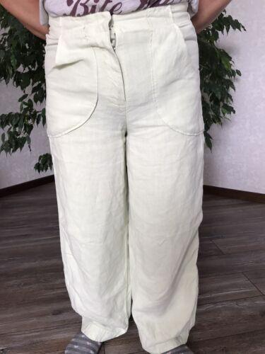 OSKA Linen Pants Trousers Graciana White Green Lim