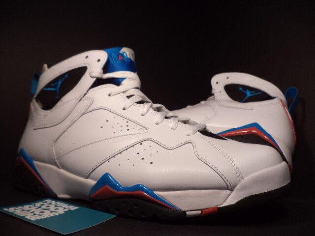 Nike Air Jordan VII Bleu 7 Retro blanc ORION Bleu VII Noir INFRARED rouge 304775-105 10.5 2ff422
