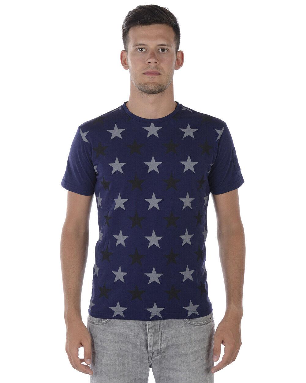 cf31135969 T shirt Maglietta Daniele Alessandrini Sweatshirt Uomo Blu M6355E6433706 23  23 23 b05073