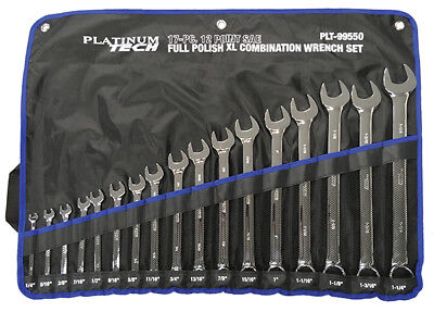 17 Pc Professional Metric Long Pattern Wrench Set PLT-99570 Brand New!