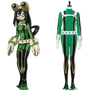 Track My Boku no Hero Academia Asui Tsuyu Anime Cosplay Costume No glasses