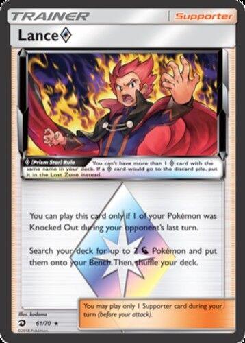 61//70 1x Lance Prism Star Holo Rare NM-Mint Pokemon SM07.5 Dragon Majesty