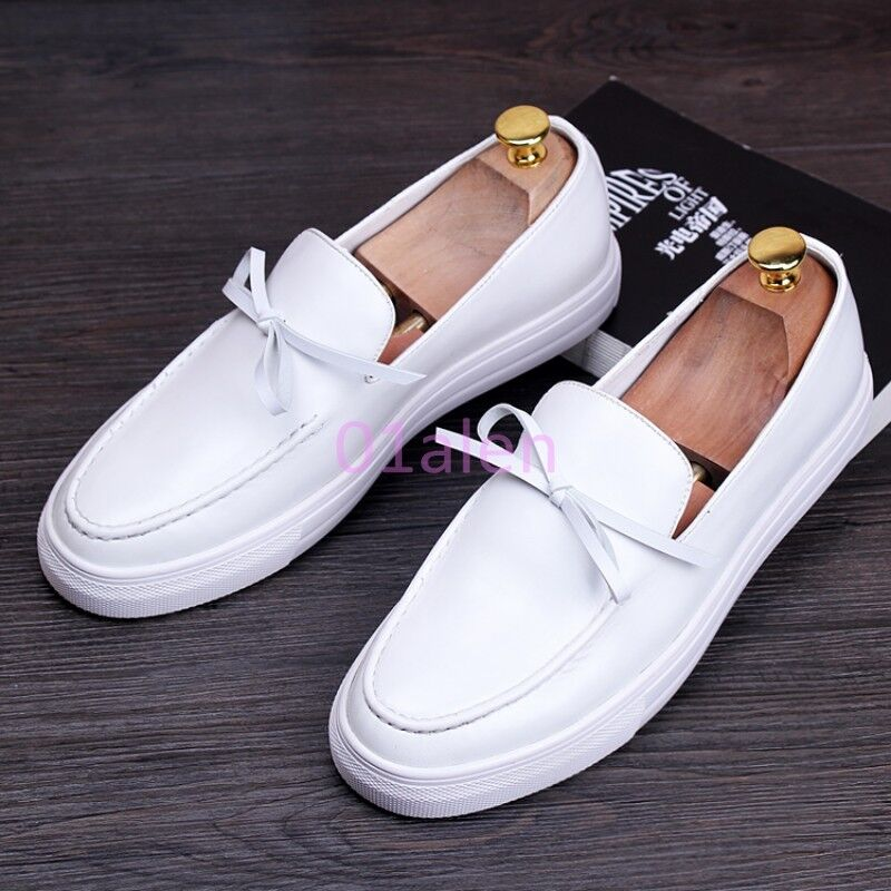 Men Bowtie Flat Slip On Loafer Round Toe Casual Fashion Oxford shoes Comfort Hot