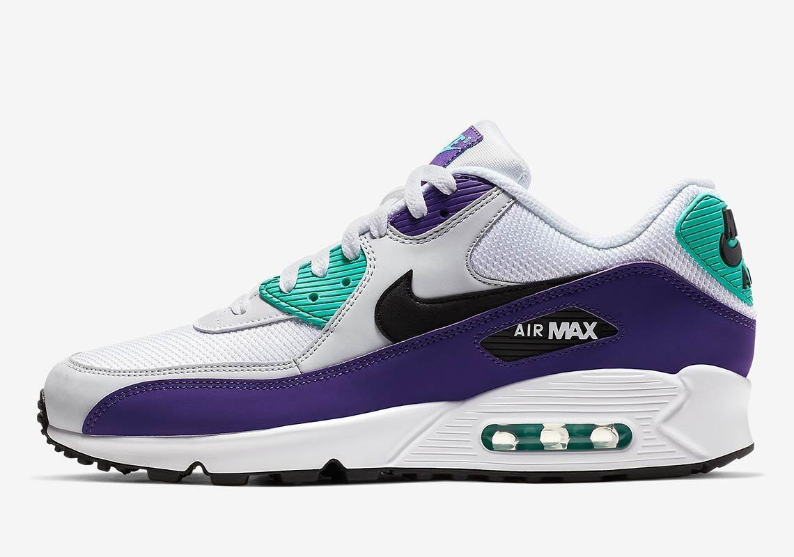 b1dc421496 New Men's Nike Air Essential (AJ1285-103) White Black-Hyper Jade-Grape 90  Max ncujtz9728-Athletic Shoes