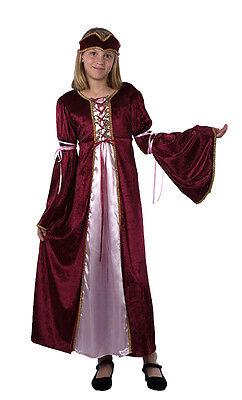 Girls Tudor Renaissance Juliet Princess Book Week Fairy Tale Outfit New 4-6-8-10