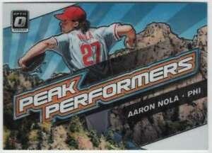 2019 Donruss Optic Baseball Peak Performers #11 Aaron Nola Phillies
