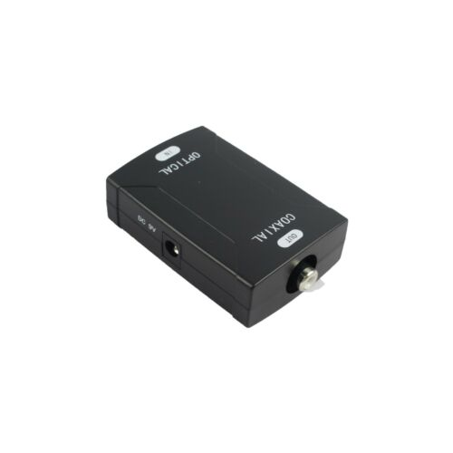 TOSlink Optical to Coax S//PDIF Coaxial Digital Audio Converter Dolby Digital DTS