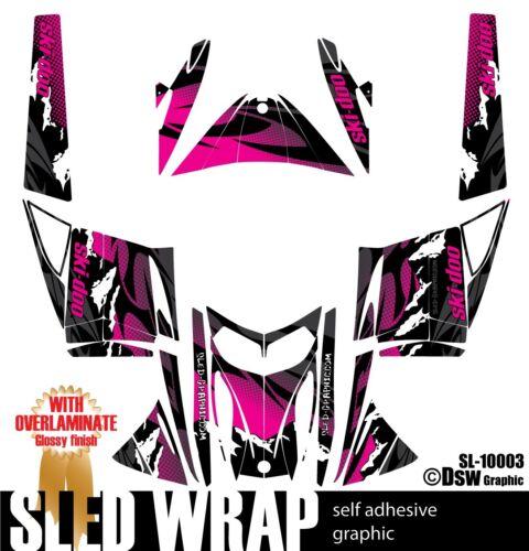 SLED WRAP GRAPHICS KIT DECAL STICKERS SKI-DOO REV MXZ SNOWMOBILE 03-07 SL10003