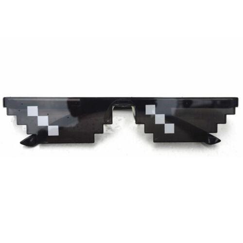 Cool Men Women Thug Life Glasses 8 Bit Pixel Deal With IT Sunglasses Shades Hot