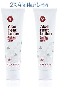 2-x-Aloe-Forever-Living-ORIGINALE-HEAT-LOTION-LOZIONE-MASSAGGIO-RILASSANTE-118-ml-NUOVO