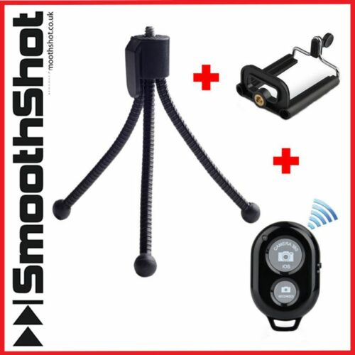 Mini Compacto flexible soporte Trípode Cámara Soporte Smartphone montaje Bluetooth