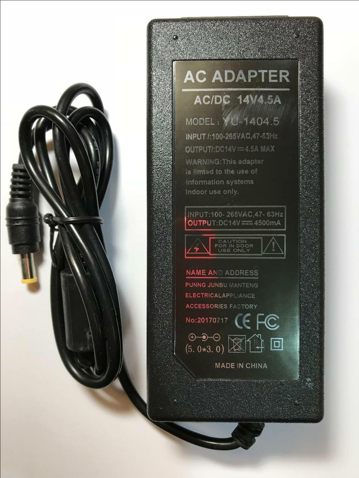 14V 4.5A AC-DC Switching Adapter for BN44-00399A BN44-00399B AD-6314