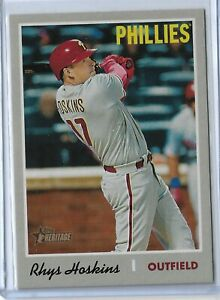 2019-Topps-Heritage-Baseball-Rhys-Hoskins-Action-Variation-Philadelphia-Phillies