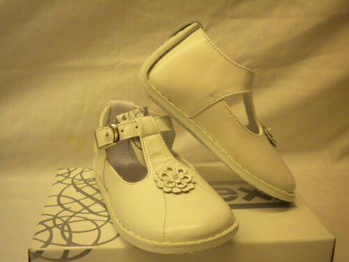 Pex Baby GirlWhite Shoes Leather Upper  Size 2-5 UK Infant JUNIPER