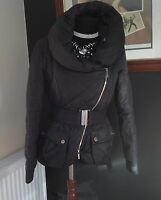 EXCLUSIVE KAREN MILLEN BLACK PUFFA DOWN PADDED QUILTED JACKET SIZE 8
