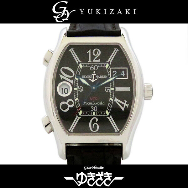 9917bc8b839a ULYSSE NARDIN Michelangelo UTC Dual time 223-48 52 Men s Watch From Japan  Used
