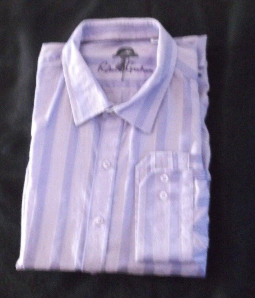 Luxury ROBERT GRAHAM Purple Striped  Long Sleeve Größe 2XL 2GT