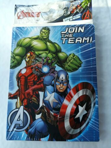 16x Marvel Avengers Birthday Party Invitations /& Thank You Combo Pack Supplies