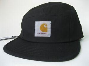 Carhartt-WIP-Backley-5-Panel-Hat-Cotton-Cap-Summer-Travel-Men-Women-Black