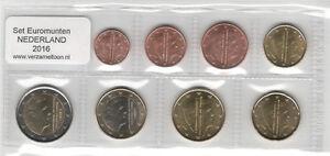NEDERLAND-UNC-EURO-SET-2016-DERDE-WILLEM-ALEXANDER-SET-serie-1-cent-t-m-2-euro