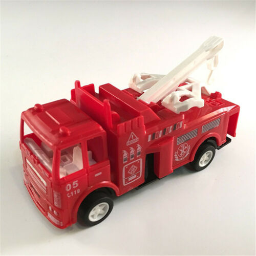 Pull Back Fire Truck Pretend Play Water Tanker Model Toys Kids Educational T OQF