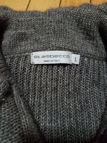 Sweater Large Womens St Cardigan Button Sz Italy uld Ambecco wCXwxq0Tp