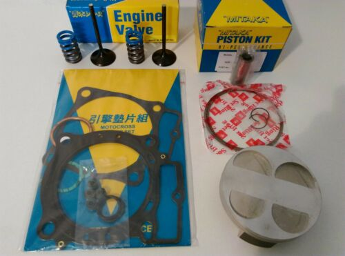 Honda 2007-2008 Mitaka CRF 450 R Top End Engine Rebuild Kit Piston Valve Gaskets
