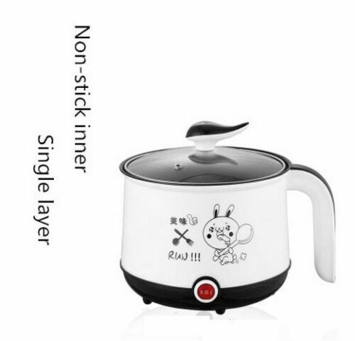 220V Mini Multifunctional Electric Cooking Pot Machine Single//Double Layer Baby