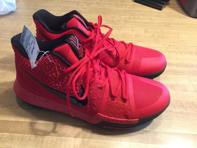 """946c8197ccbc0 Mens Nike Kyrie 3 """"3 Point Contest Candy Apple"""" Size 12 Shoes Red 852395-600"""