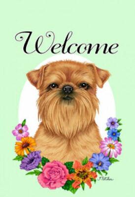 Welcome Garden Flag Brussels Griffon 631281 Ebay